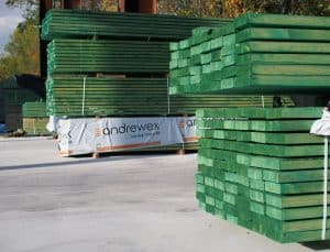 Drewno impregnowane