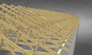 Drewniana konstrukcja hali