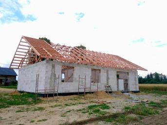 Dach prefabrykowany wiązarowy