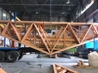 wiązary dachowe transport na budowę