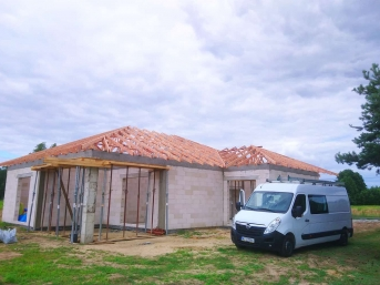 Wiązary na dachu